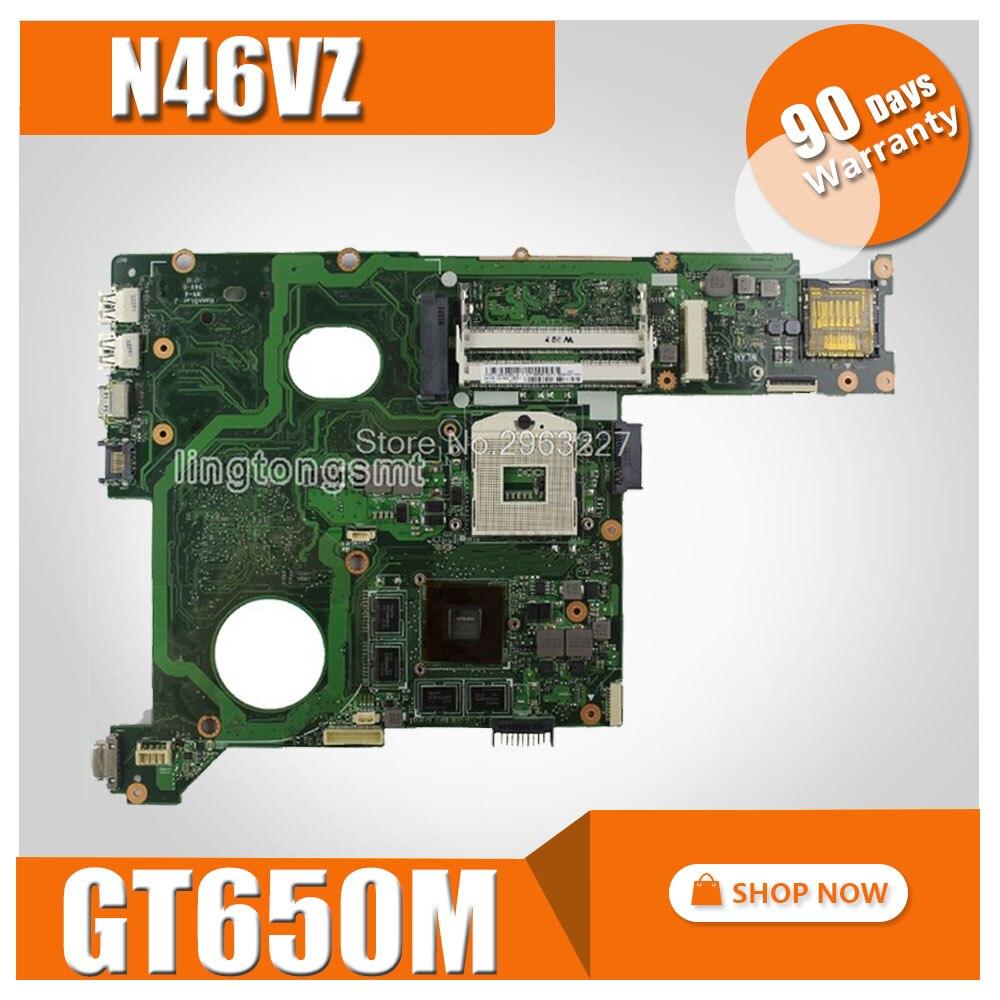 N46VZ материнская плата GT650M 2 ГБ для ASUS N46V N46VM N46VB N46VJ материнская плата для ноутбука N46VZ материнская плата N46VZ Материнская плата Тест 100% ОК