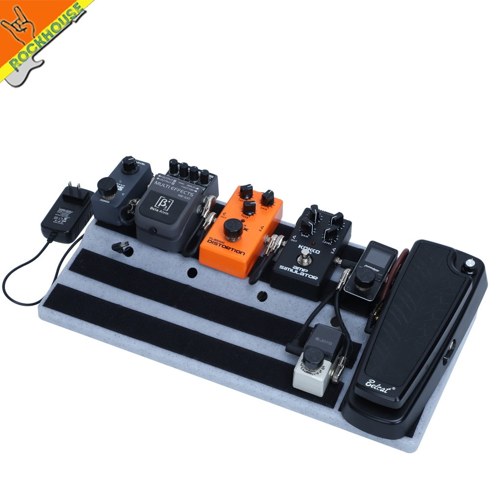Super Solid Guitar Pedal Board Pedalboard RockBoard Pedal train Hide your Pedal power and power cables Free Shipping enlarge