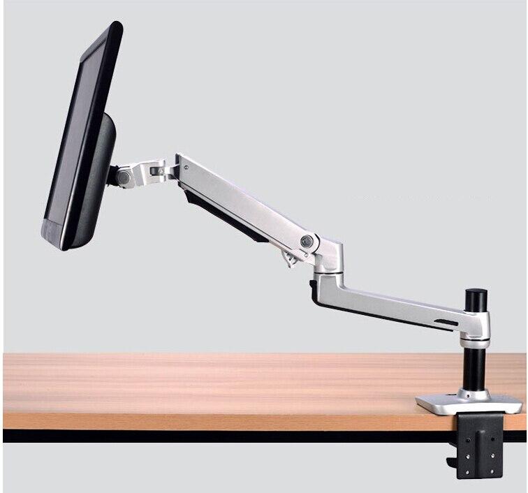 "XSJ8012C Aluminum Desktop Clamping 17-32"" Monitor Holder Mechanical Spring Arm Free Lifting Full Motion TV Mount Loading 10kgs"