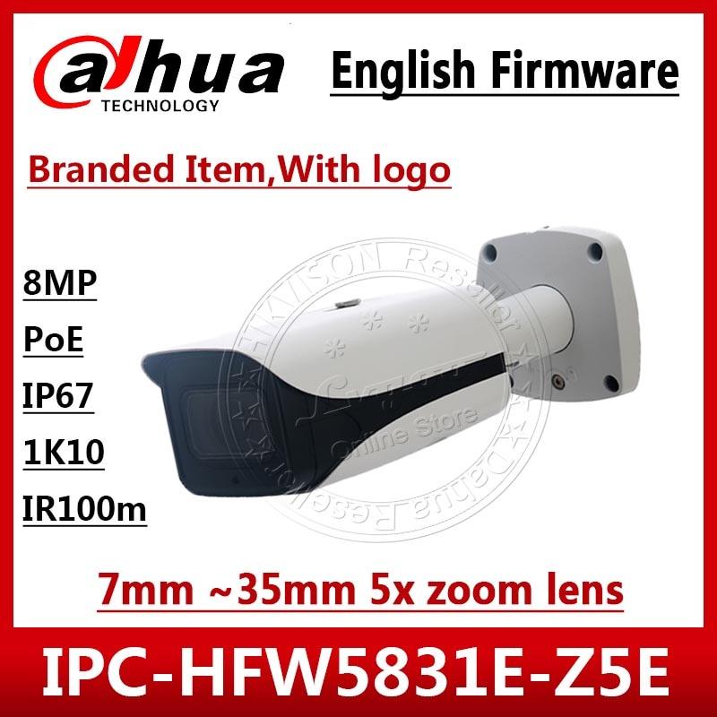 داهوا 8MP IP كاميرا IPC-HFW5831E-Z5E 7 مللي متر ~ 35 مللي متر 5x عدسات تكبير IP67 IK10 POE 100m IR المدى الأمن IPC-HFW5831E-ZE مع شعار