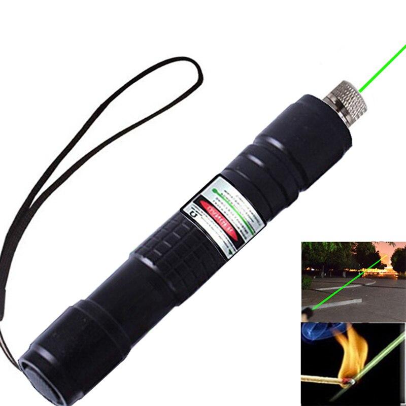 Ponteiro de visão laser verde portátil foco lazer vista caminhadas à prova de poeira caneta luz lazer ponteiros com tampa estrela + carregador + bateria