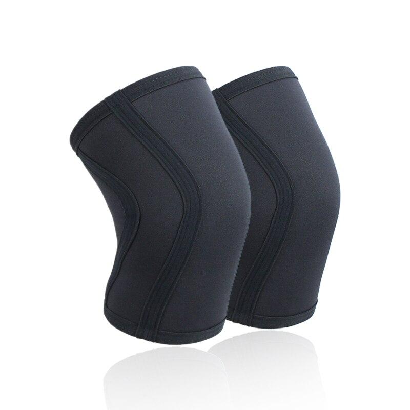 1 par agachamento joelho mangas almofada suporte de alto desempenho 7mm neoprene melhor joelho protetor para levantamento de peso powerlifting crossfit