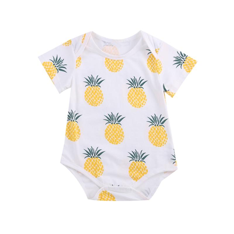 ¡Novedad! Ropa para bebés, peleles de algodón y piña de manga corta con dibujos para niños pequeños, monos de pijama para bebés