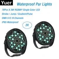 ip65 waterproof par lights 78x3w rgbwy led slim par cans dmx disco dj sound party light flat led color music par lights club