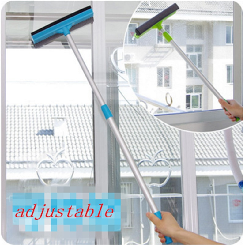 1 шт. очиститель для стеклянных окон 2-в-1 щетка для очистки стеклоочистителя Регулируемая длинная ручка для ванной комнаты щетка для очистки стен Прямая поставка
