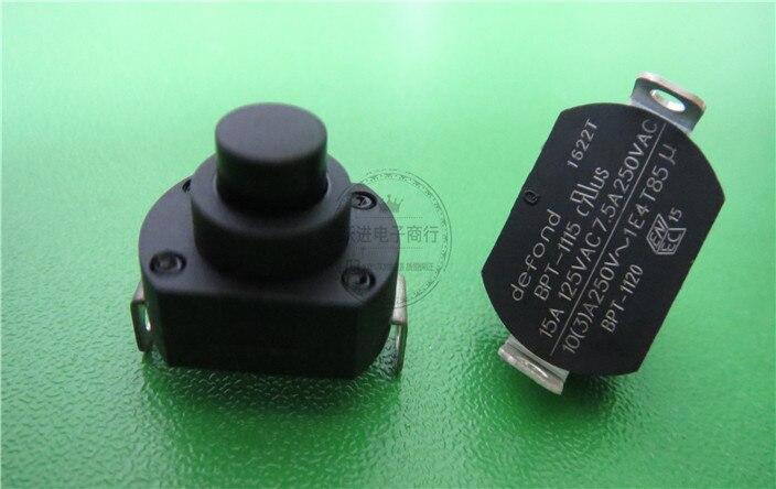 De alta potencia de vacío limpiador eléctrico RP interruptor de botón importados DEFOND auto bloqueo interruptor de llave 7.5A250V BPT-1115 BPT-1120