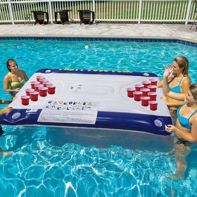 Хит продаж, 24 подстаканника, ПВХ, надувной стол для пивного понга, поплавок для бассейна, летняя водяная вечеринка, веселые игрушки, надувной матрас для отдыха, ведро для льда