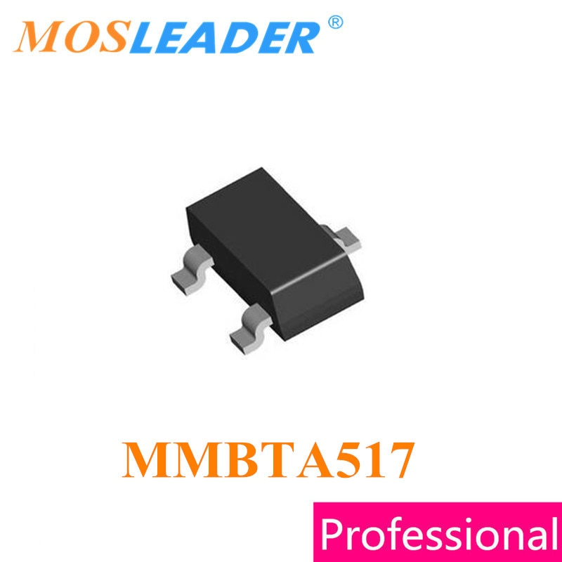 Mosleader MMBTA517 SOT23 1000 قطعة MMBTA517-RTK 30V 400mA 0.4A عالية الجودة