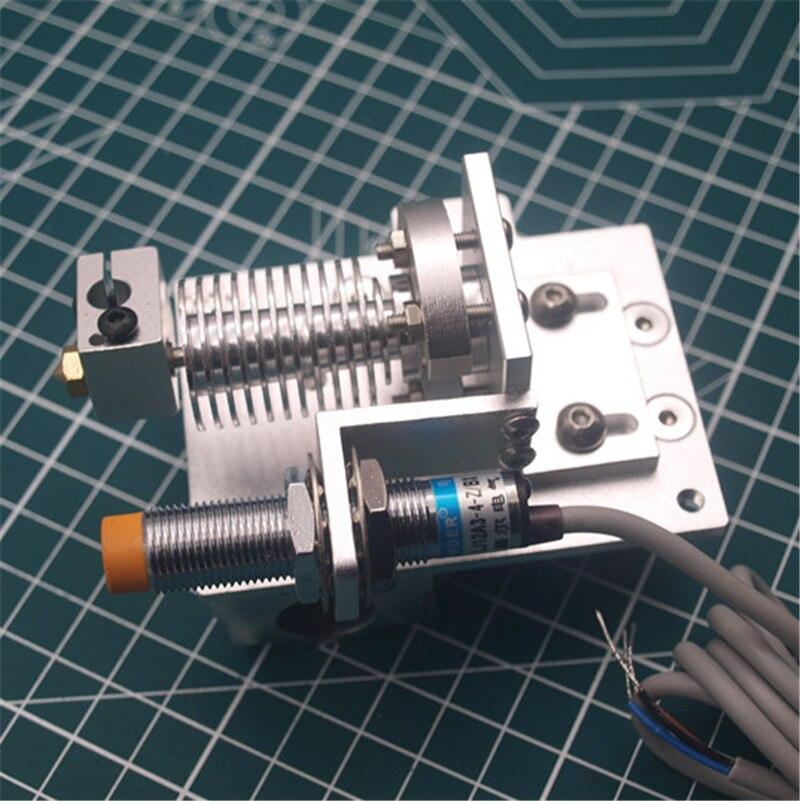1 комплект алюминиевый Reprap Prusa i3 v6 Bowden hotend X Набор для крепления каретки с индуктивным датчиком приближения 1,75/3 мм все металлические обновлен...