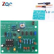 DIY Kits NE555 Multi-canal Waveform generador Suite Sine triángulo cuadrado onda Kit de entrenamiento electrónico