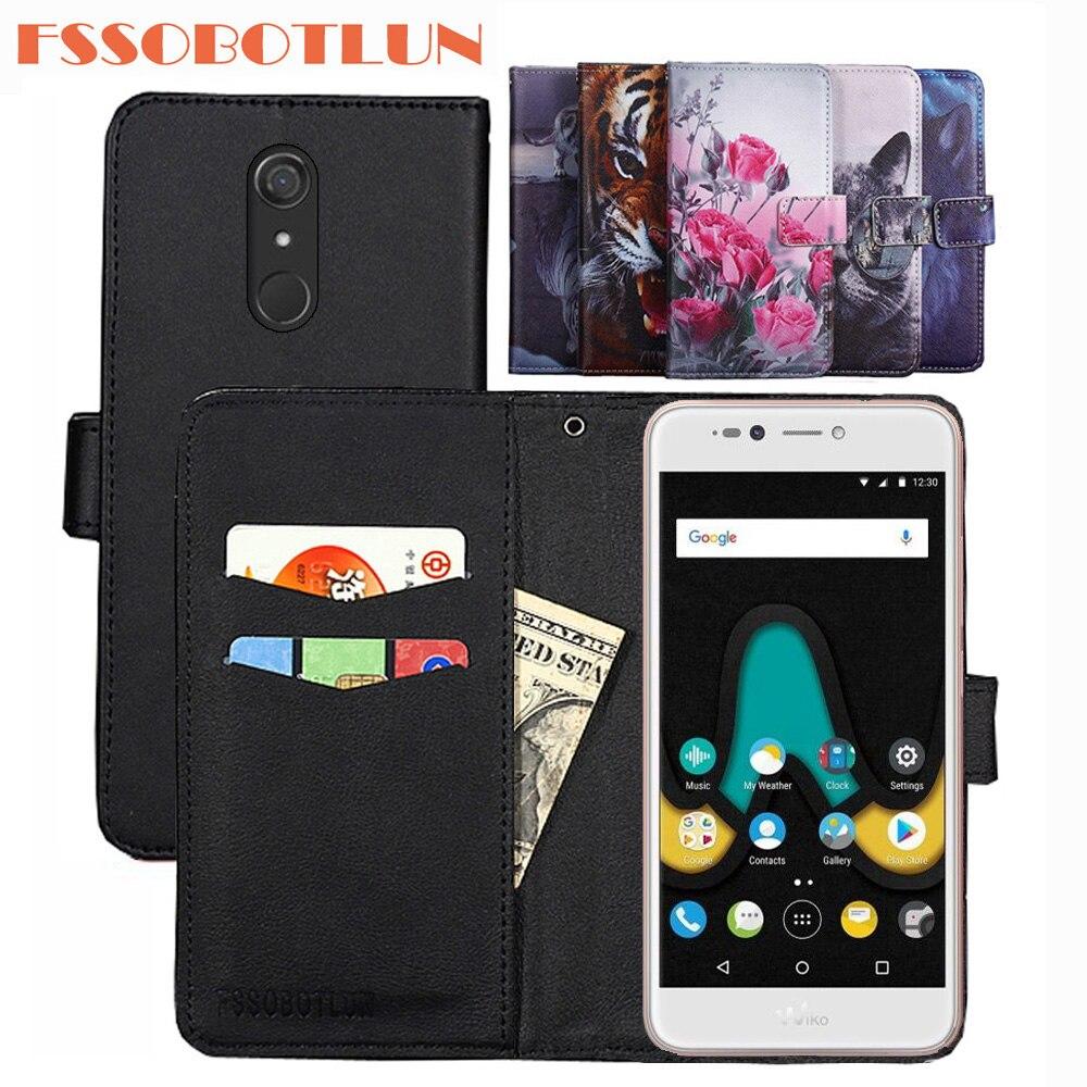 FSSOBOTLUN 9 Colors For Wiko uPulse Case PU Leather Retro Flip Cover Shell Magnetic Fashion Wallet C