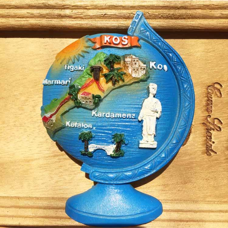 Imanes de refrigerador de recuerdo de turismo griego