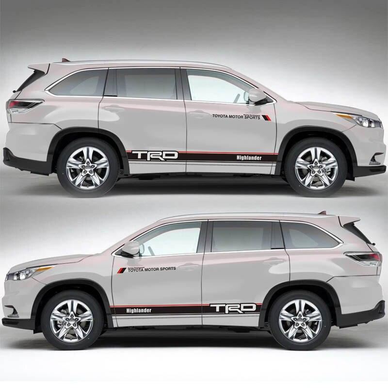 Pegatina TAIYAO para coches deportivos para Toyota 2013-2018, accesorios y calcomanías para coches Highlander