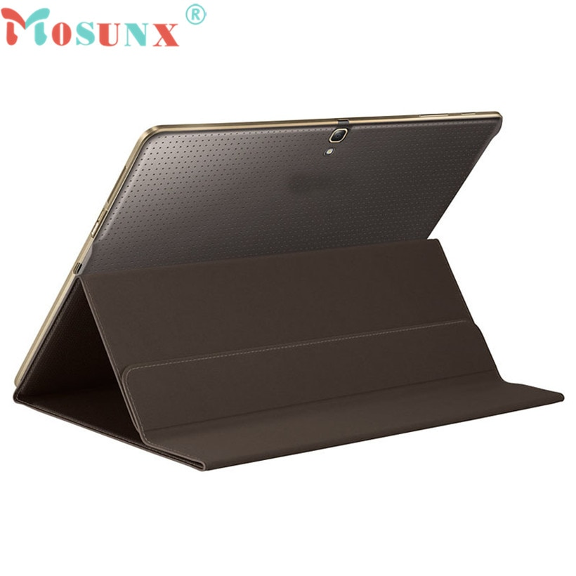 MOSUNX продвинутый чехол для планшета ультра тонкий чехол для книги Чехол подставка для Samsung Galaxy Tab S 10,5 дюймов SM-T800/T805 Samsung Чехлы L0705