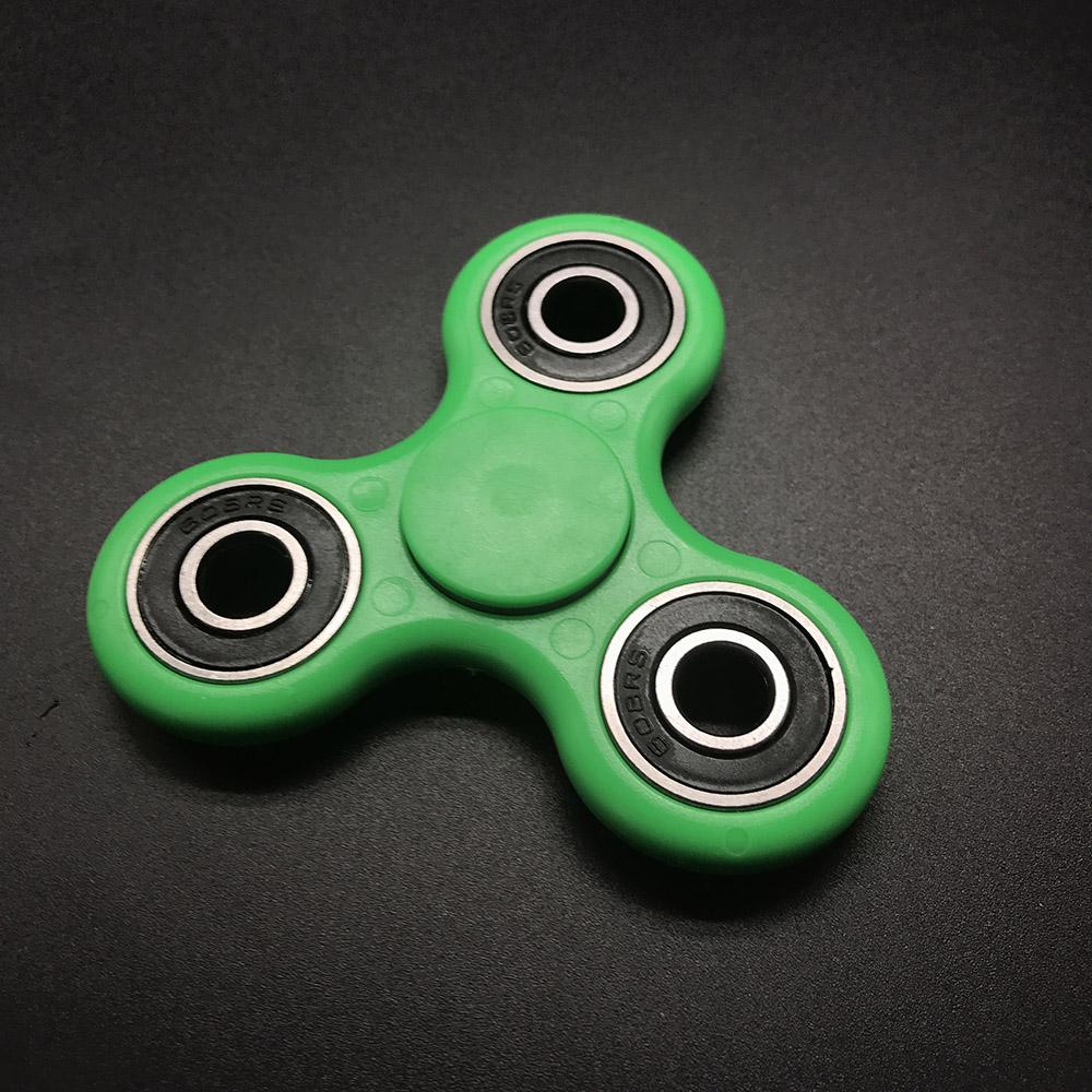 7 Kolory Koraliki Ceramiczne EDC Tri-Spinner Z Tworzywa Sztucznego Ręcznie Fidget Spinner Spinner Dla Autyzmu i ADHD Długi Czas Anty stres Zabawki 3