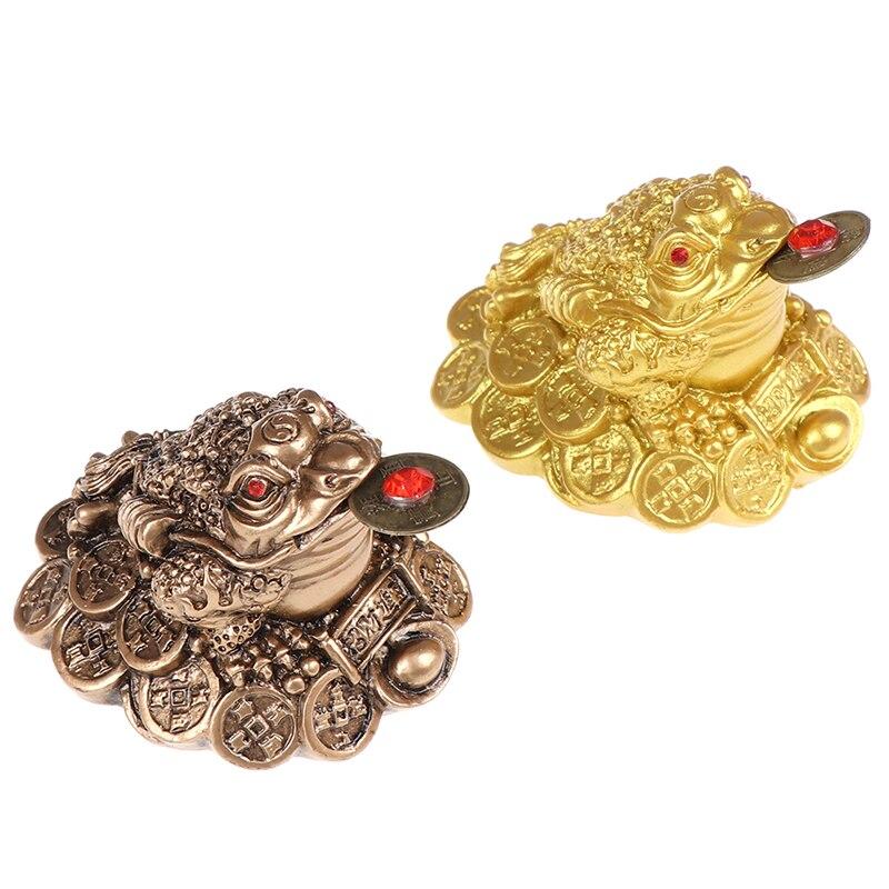 1 Uds chino fortuna Rana Feng Shui suerte de tres patas sapo dinero casa Oficina negocio de la tienda de decoración artesanal regalo