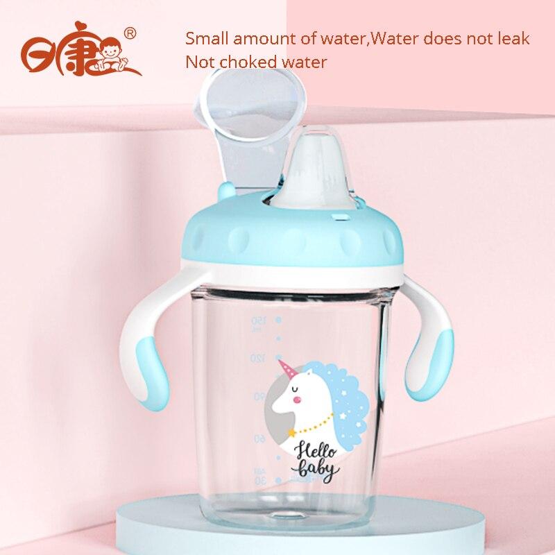 Bico de pato Copo Copos Crianças Feedkid Evitar Cair À Prova de Fugas Anti-choke Bebedor Bebedor Com UMA Palha Garrafa de Água Para As Crianças
