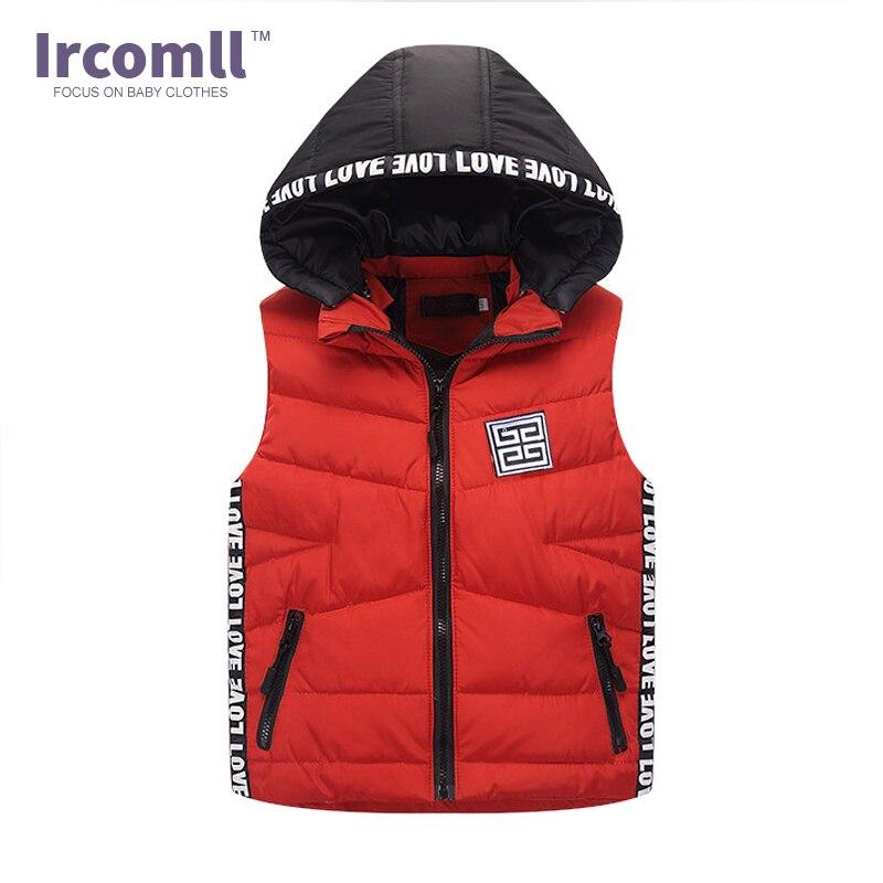 2018 Autumn and Winter Children Vest Duck Down Warm Hooded Coat Boy Girl Outwear Infant sleeveless Jacket Cotton Kid Clothe