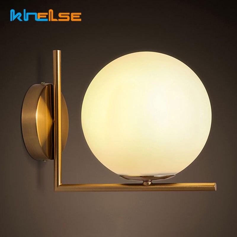 Современная настенная лампа в скандинавском стиле, потолочный светильник со стеклянными шарами в стиле ретро для столовой, спальни, рестор...