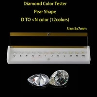 pear shapes d to n white color cubic zirconia stone diamond grade color tester tools