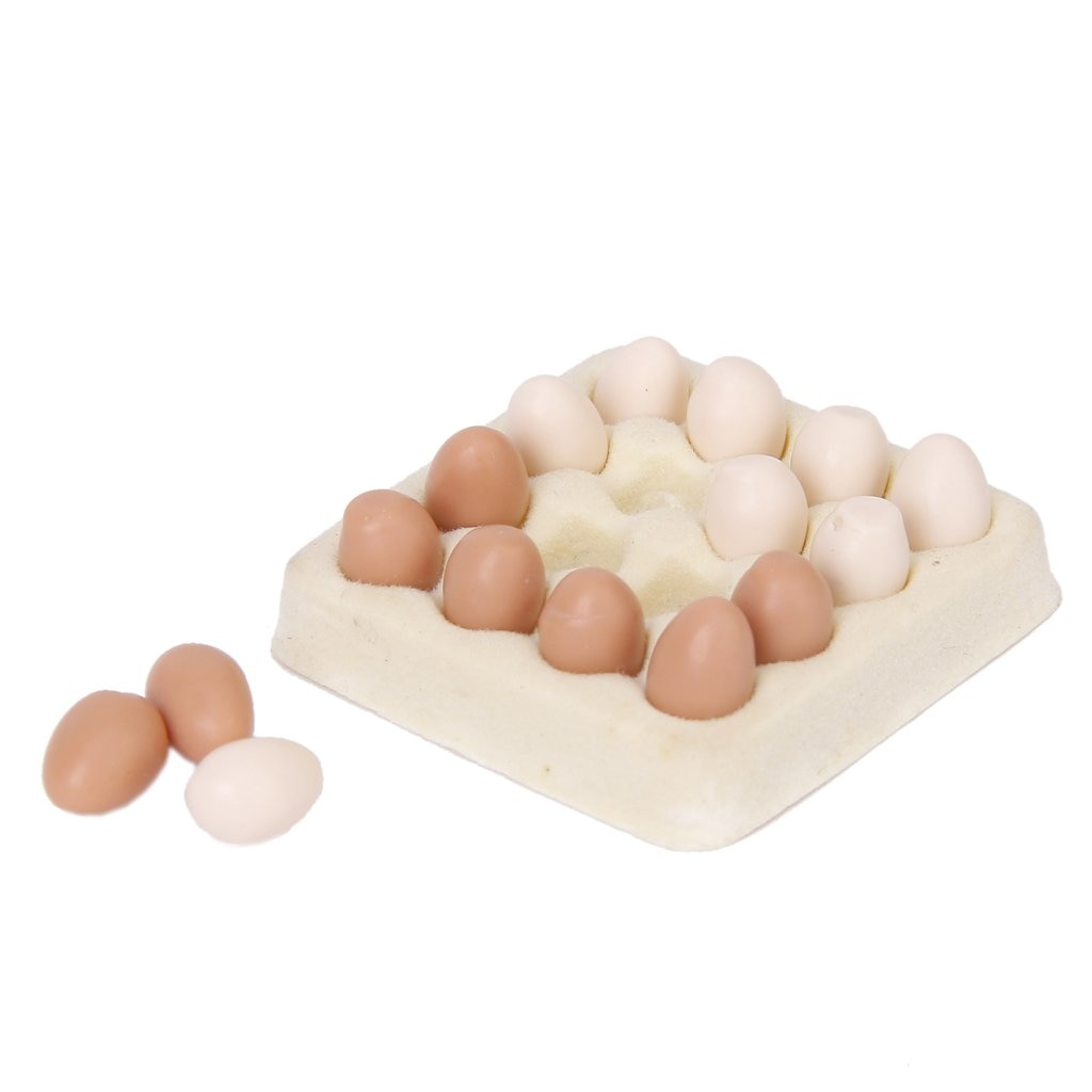 1/12 puppenhaus miniatur ei karton mit 16 stücke eier dollhouses