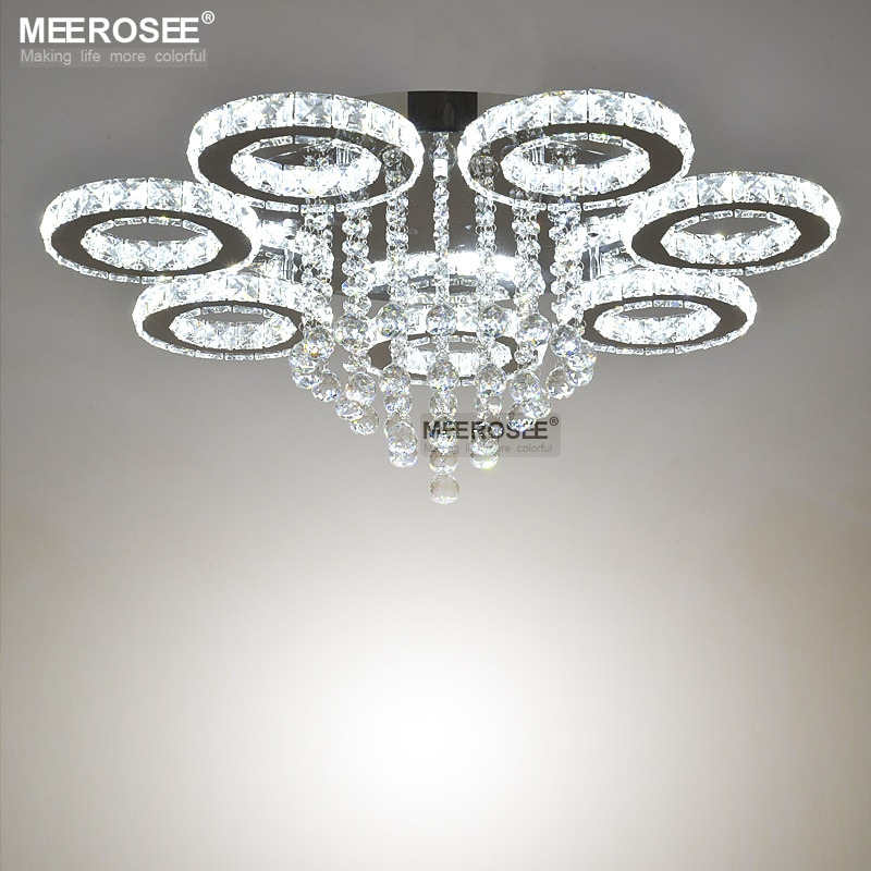 Modern LED Crystal Ceiling Light Ring Mounted Ceiling Lamp LED Clear tOP K9 Crystal Mounted Ceiling Luatre for Home Decoration  - buy with discount