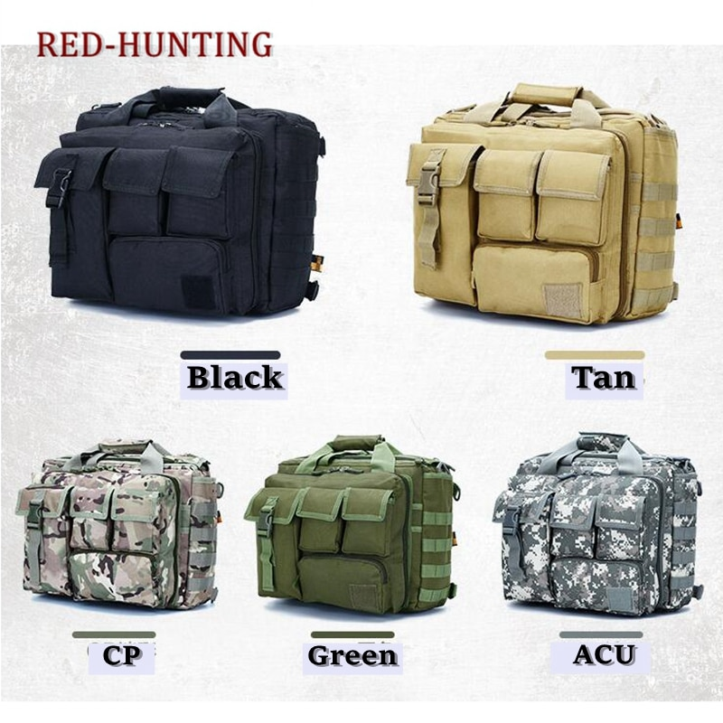 "Multifunction Mens Outdoor Tactical Nylon Shoulder Laptop Messenger Bag Briefcase Handbags Large Enough for 15.6"" Laptop/Camera"