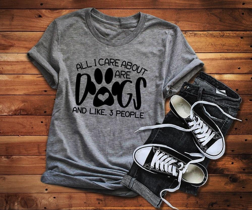 Футболка с собаками All I care about are dogs, забавная графическая женская футболка с собачьими собаками, гранж tumblr, Повседневная футболка, художественные Топы