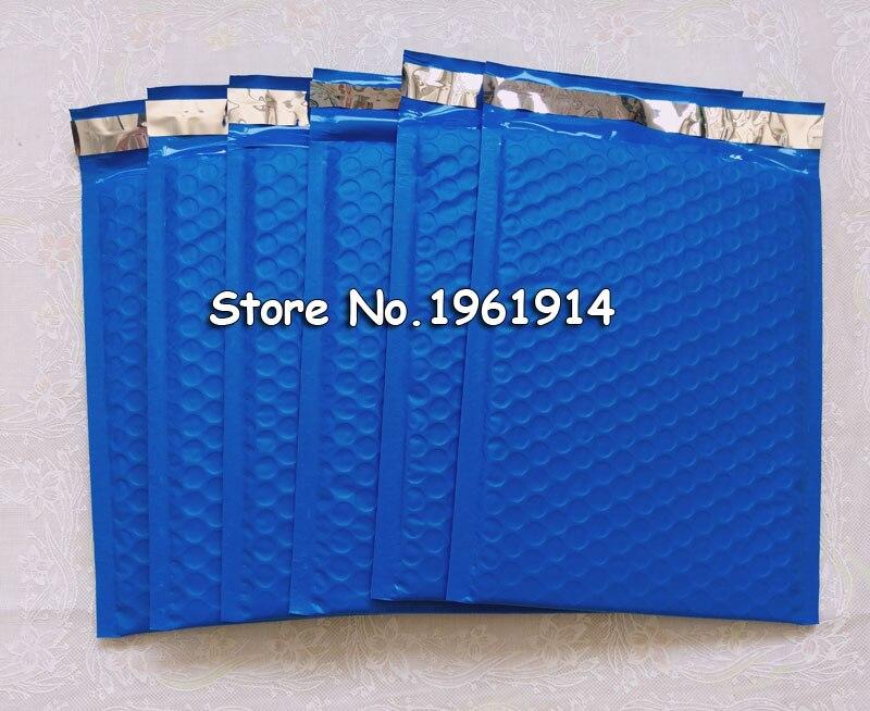Blue160X230MM espacio utilizable Poly bubble Mailer sobres acolchados bolsa de correo autosellante [50 Uds]
