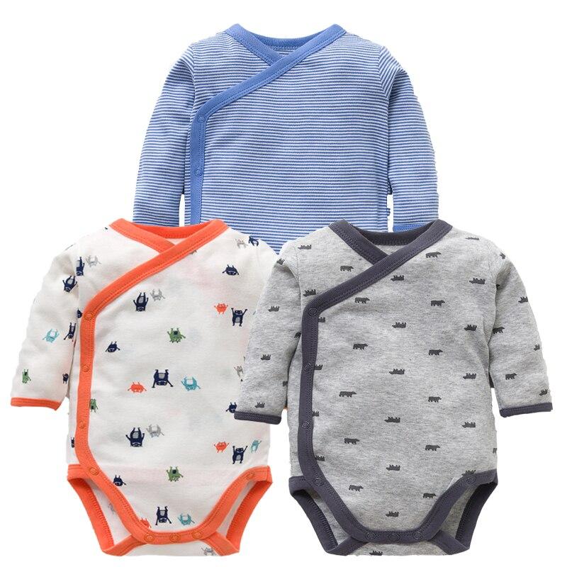 3 stuks/partij Baby Meisje Kleding Set lange mouwen Cartoon Gedrukt Pasgeboren Baby boy Kleding 100% Katoenen Baby Bodysuits Baby 3 -12 M
