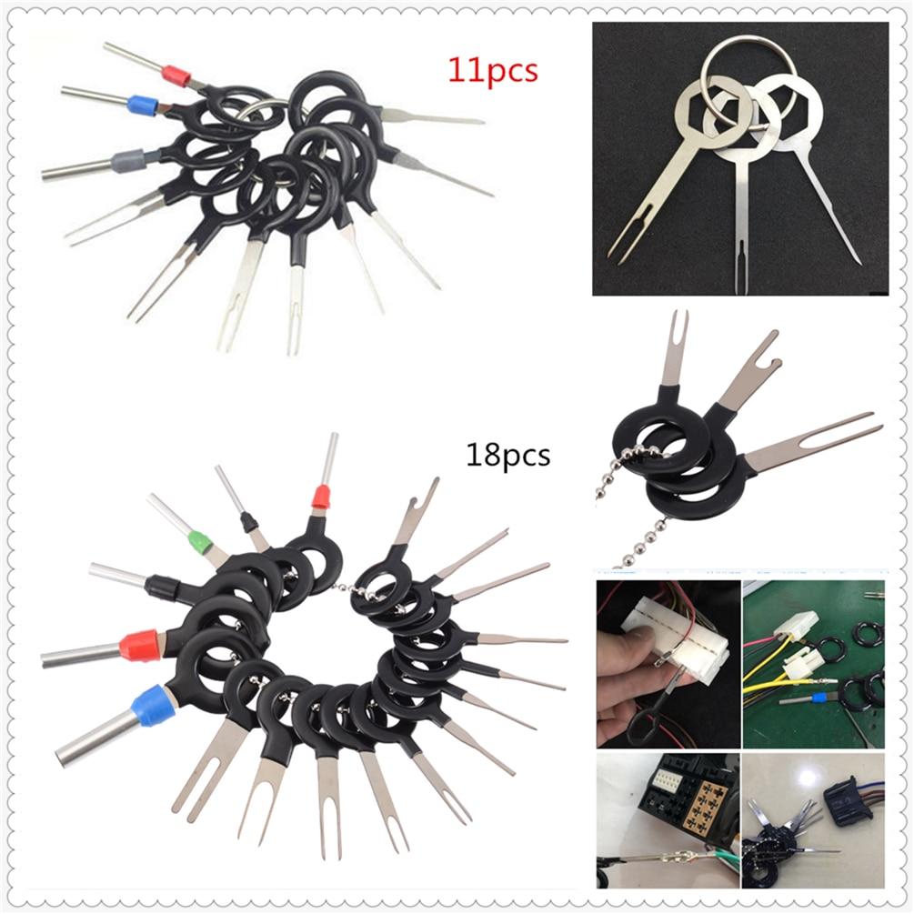 Coche herramienta de reparación macho pin terminal tipo 18/11 arnés aguja tractor para BMW E34 F10 F20 E92 E38 E91 E53 e70 X5 M M3