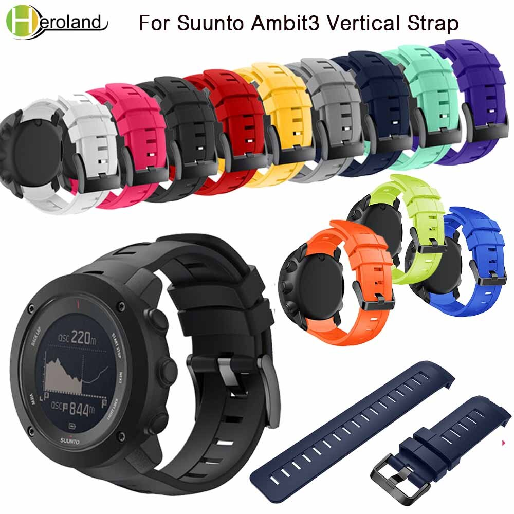Sports Silicone Watch Strap for Suunto Ambit3 Vertical Watch Band Replacement Wristband for Suunto Traverse Alpha/Suunto Spartan free delivery replacement sport band for suunto core rubber soft watch strap tpu wristband