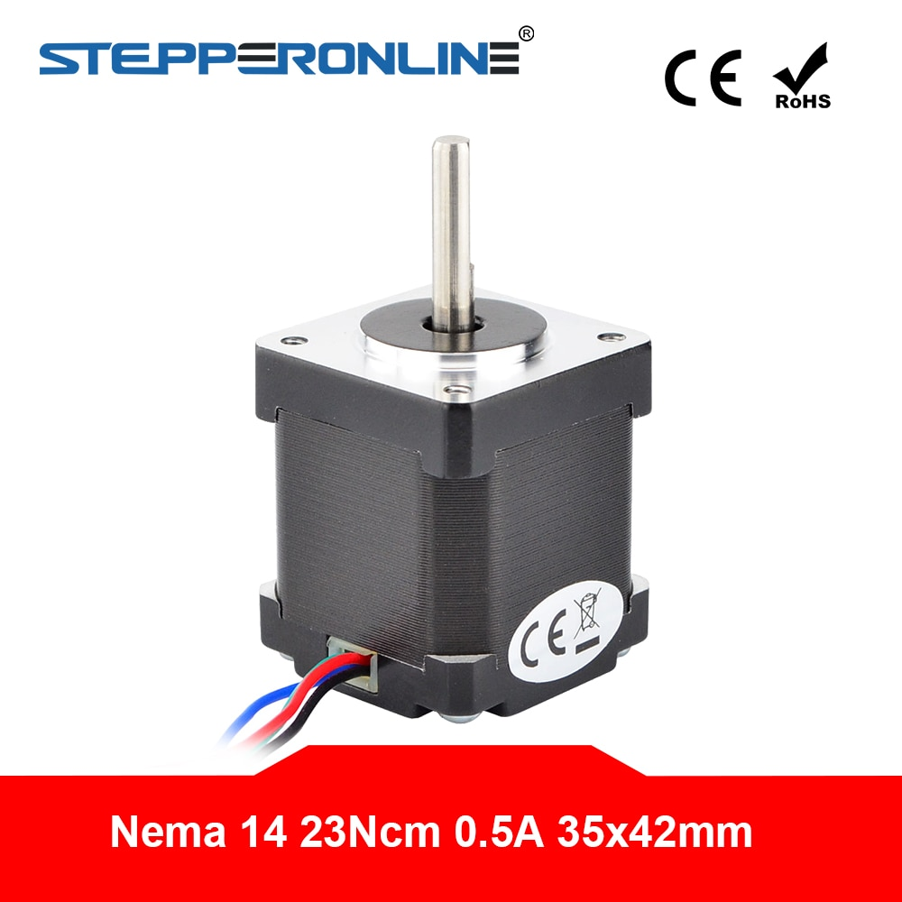 Nema 14 Motor paso a paso 42mm 23Ncm (32,6 oz) 0.5A 4-plomo Nema14 de Motor paso a paso para DIY CNC 3D impresora Motor