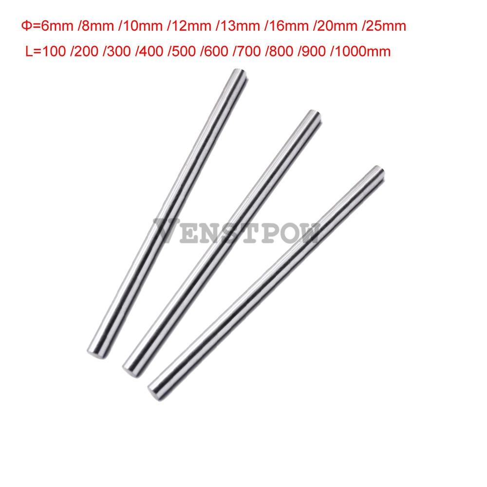 4 Uds eje lineal 8mm 8x200 eje lineal piezas de impresora 3d 8mm x 200mm cilindro Liner riel eje lineal eje cnc piezas