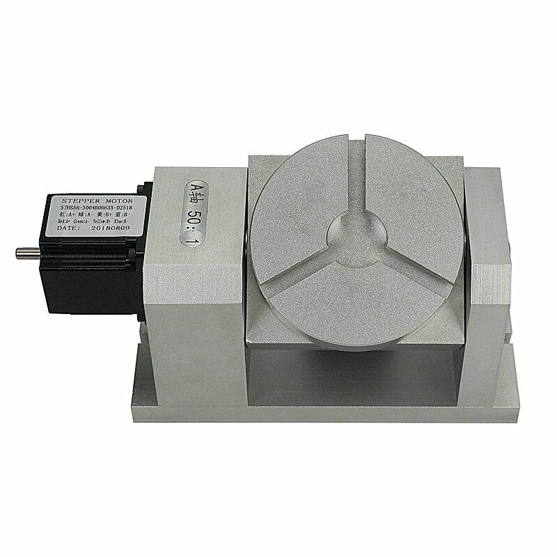 نك محور دوار متناسق علبة التروس تقسيم رئيس نك 4 محور تشاك 100 مللي متر 5th محور tailstock 50: 1 متناسق المخفض ل ماكينة بتحكم رقمي بالكمبيوتر