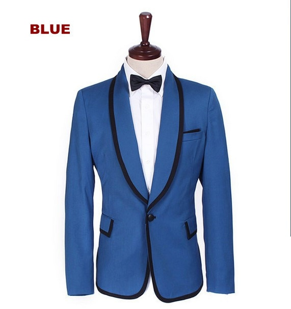 Worldwide Popular Gangnam Style Tuxedo Jacket  PSY Blue Suit Cosplay Costume