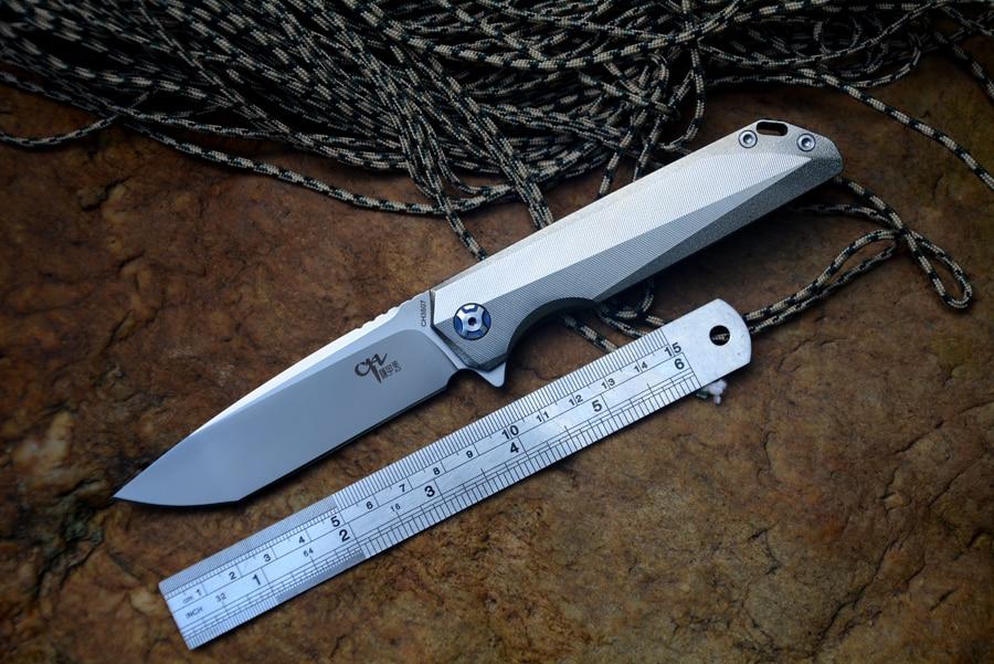 Cuchilla CH M390 CH3507, cuchillo plegable, rodamiento de bolas de cerámica, arandela TC4, Mango para exteriores, cuchillo de bolsillo para acampar, para colección de regalos