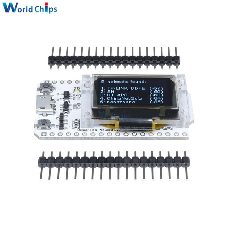Pantalla Digital azul OLED ESP32 de 0,96 pulgadas Bluetooth WIFI Kit 32 módulo CP2102 32 M Placa de desarrollo de Internet Flash para Arduino