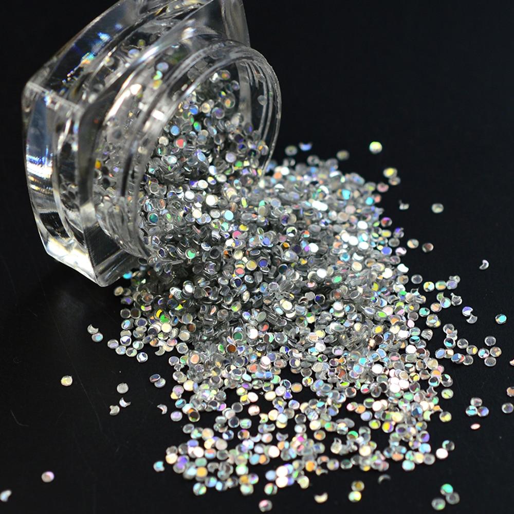 2g/Bottle Fashion Bling Bling Round-Shape Acrylic Nail Designs Mixed Mini Dot Glitter Paillette Slice 3D Nail Art Decor Y09