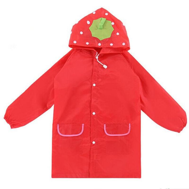 Waterproof  Kids Rain Coat For children Raincoat Rainwear Rainsuit Kids Animal Style Raincoat Car Rabbit Duck Frog Strawberries enlarge