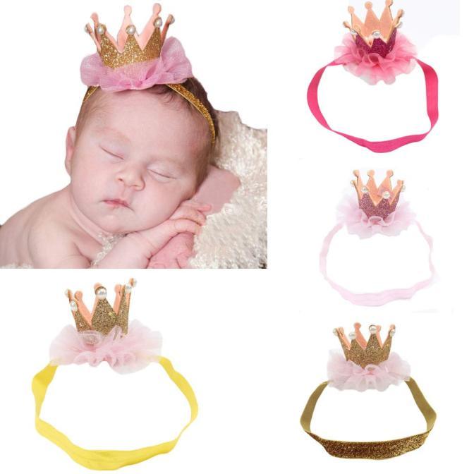 ARLONEET diadema para chicas elástico flor tocados de corona accesorios cabello niño corona de tela de cinta para el cabello con guirnalda de flores de Crochet Accesorios