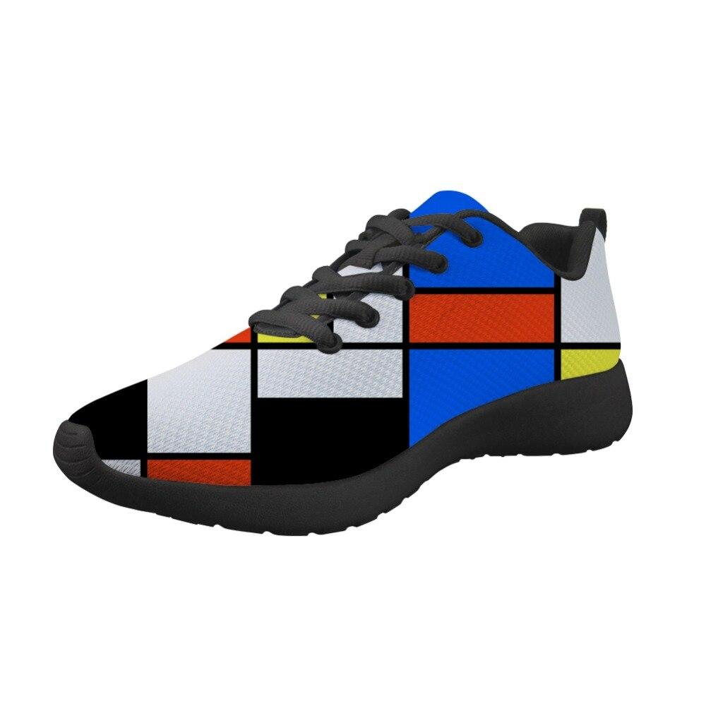 2019 Sapatilhas Novas da Chegada Prevista Homens Sapatos Flats Primavera Pintura Abstrata Art Impresso Apartamento Confortável Para Piet Mondrian Mestre Peças