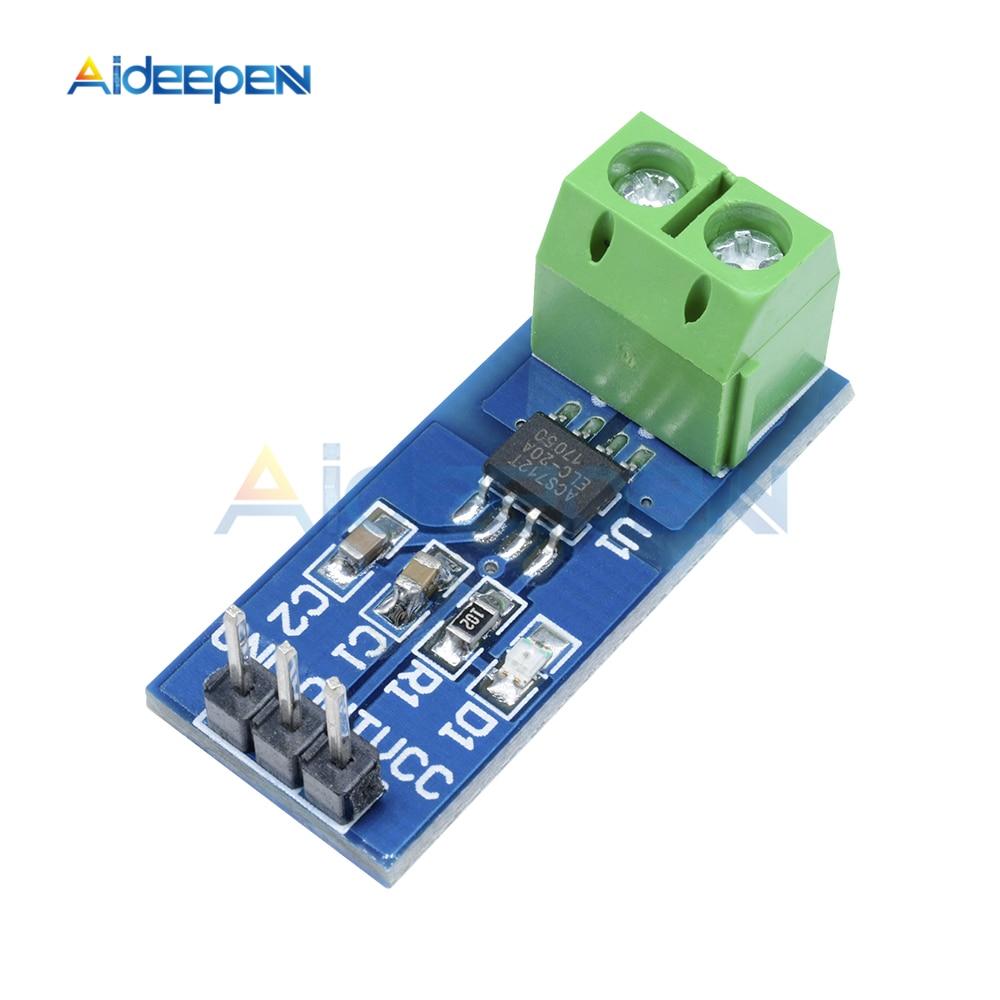 Módulo de Sensor de corriente 20A Hall módulo ACS712 para Arduino