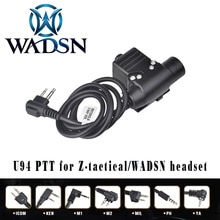 WADSN Airsoft casque U94 PTT pour prise KENWOOD talkie-walkie BaoFeng UV-82 adaptateur Radio pousser pour parler Softair casque WZ113