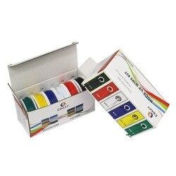 18 20 22 24 26 28 AWG UL1007 6-цветная гибридная коробка упаковка многожильный провод и кабель провод луженая медная проволока DIY