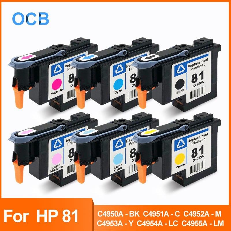 Para HP 81 cabezal de impresión Impresión de cabeza para Designjet Cartera de HP Designjet 5000 de 5000ps 5500, 5500ps C4950A C4951A C4952A C4953A C4954A C4955A cabezal de impresión