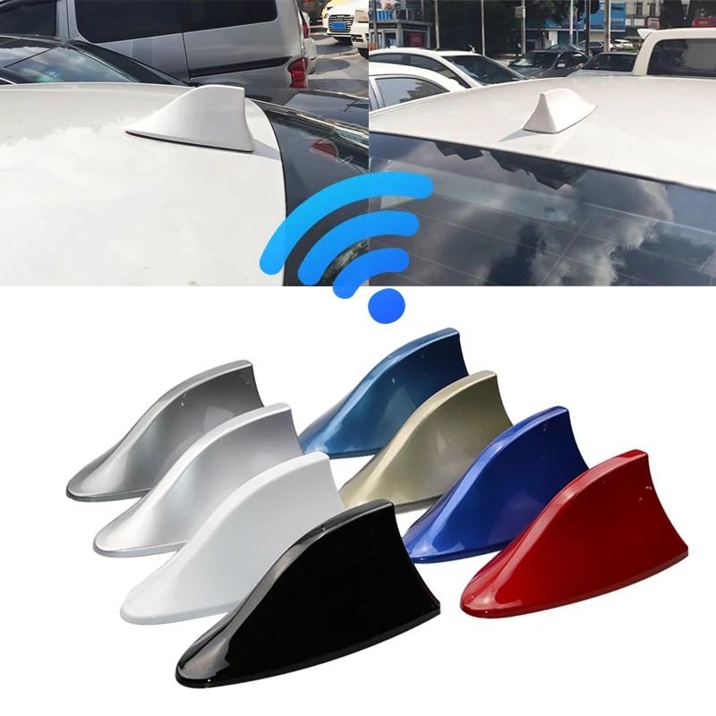 Car Antennas Shark Fin Antenna Auto Radio Signal Aerials Roof Antennas For Renault Nissan Opel Ford Hyundai Car Styling Aerials Aliexpress