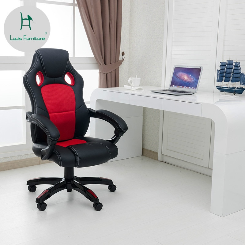 Офисные стулья Louis Fashion удобные для отдыха дышащие простые современные|Офисные