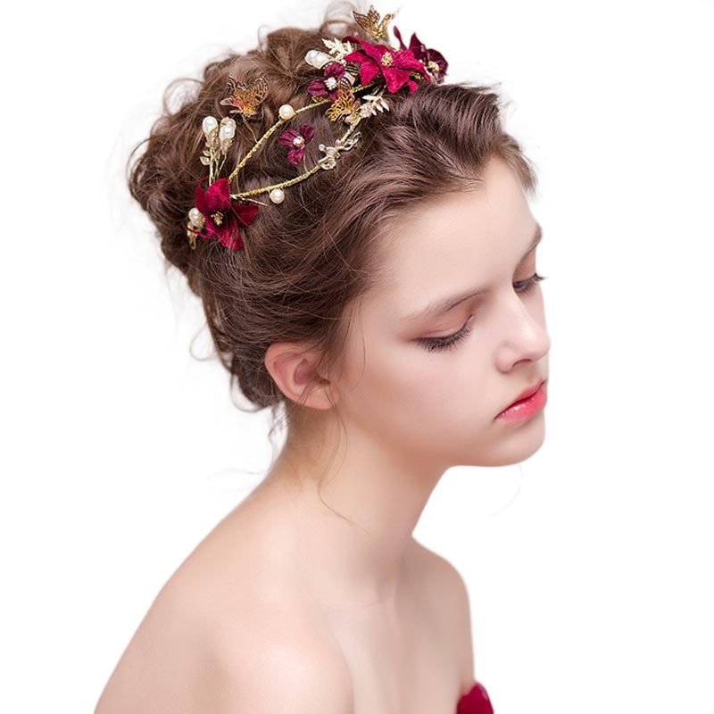Bijoux fantaisie LB en forme de fleurs   Ensemble de fleurs avec Simulation de strass pour port de mariée, bijoux fantaisie personnalisés, en vrac, nouvelle collection Vintage