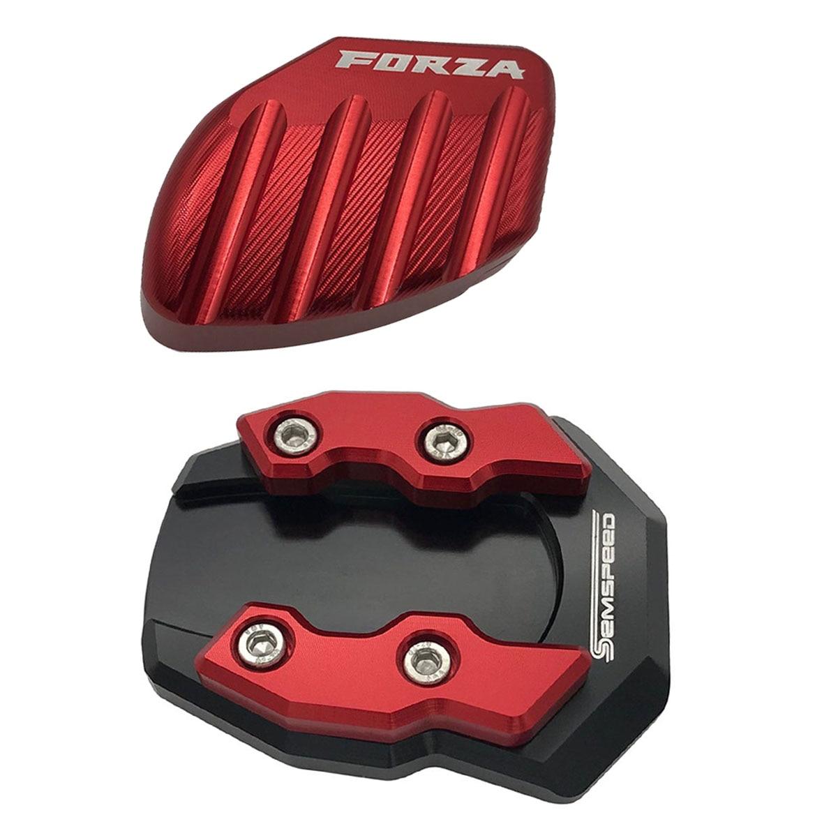 La motocicleta 2 uds lado soporte de apoyo para Honda FORZA 250, 2017, 2018, 2019, 2020 reposapiés pie extensión almohadillas plato